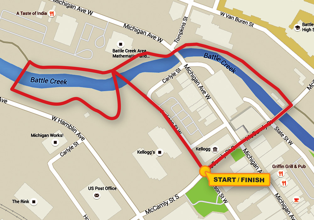 Miles for Memories Stroll Route